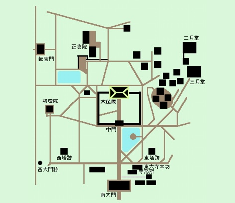 東大寺周辺の地図